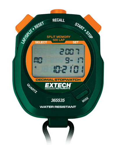 Extech 365535: Ondalık Kronometre / Saat