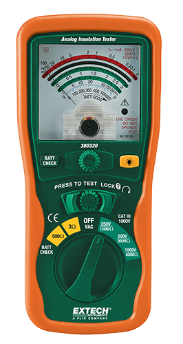 Extech 380320 Analog İzolasyon Test Cihazı