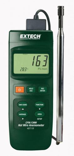 Extech 407119: CFM Sıcak Tel Termo-Anemometre