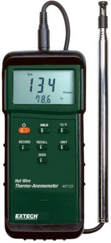 Extech 407123: Ağır Hizmet Tipi Sıcak Tel Termo-Anemometre