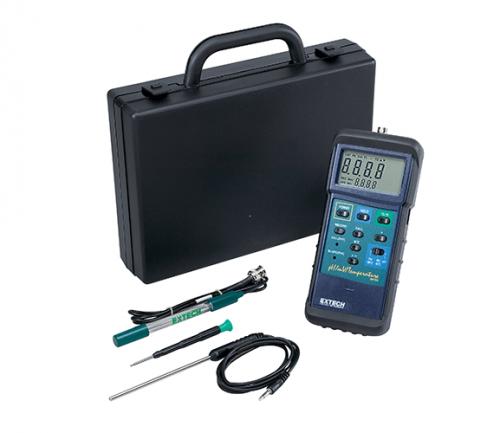 Extech 407228: Ağır Hizmet pH / mV / Sıcaklık Ölçer Kiti