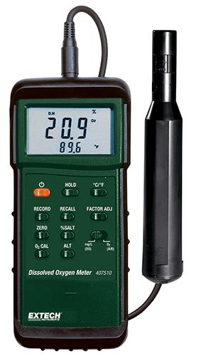 Extech 407510: PC arayüzü ile Ağır Çözünmüş Oksijen Ölçer