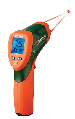 Extech 42509: Renk Uyarılı Çift Lazer IRTermometre