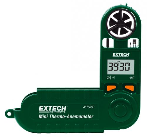Extech 45168CP: Dahili Pusulalı Mini Termo-Anemometre
