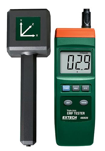 Extech 480826: Üç Eksenli EMF Test Cihazı