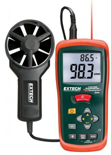 Extech AN200: Dahili InfraRed Termometre ile CFM / CMM Mini Termo-Anemometre