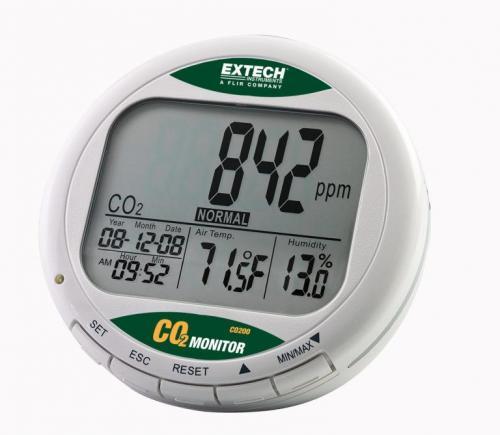 Extech CO200 – Masaüstü İç Mekan Hava Kalitesi CO₂