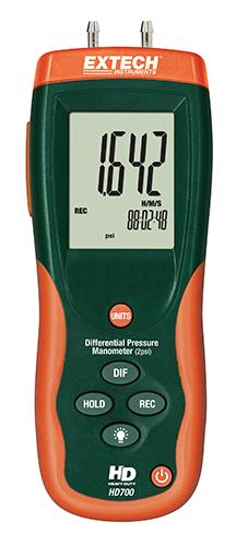 Extech HD700: Diferansiyel Basınç Manometresi (2psi)