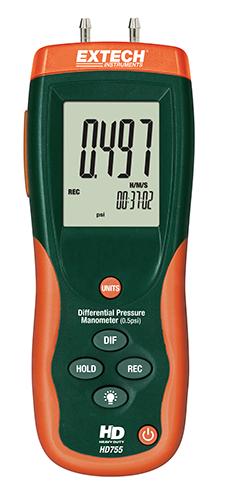 Extech HD755: Diferansiyel Basınç Manometresi (0.5psi)
