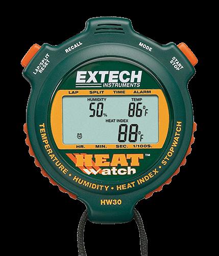 Extech HW30: HeatWatch ™ Nem / Sıcaklık Kronometre