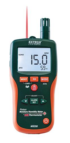 Extech MO290: Pinless Nem Psikrometre + IR