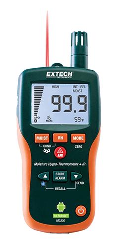 Extech MO300: Bluetooth® ile Pinless Nem Ölçer