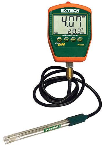 Extech PH220-C: Su Geçirmez Palm pH Sıcaklık Ölçer