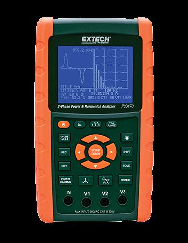 Extech PQ3470 3 Fazlı Grafiksel Güç ve Harmonik Analizörü