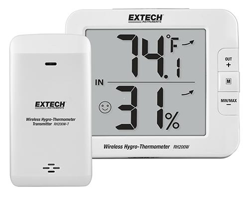 Extech RH200W: Çok Kanallı Kablosuz Hygro -Termometre