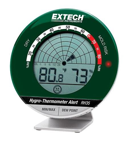 Extech RH35: Masaüstü Hygro -Termometre Uyarısı