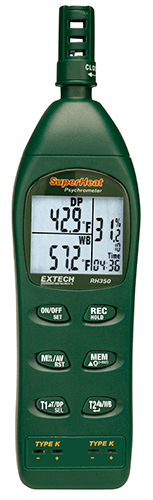 Extech RH350 Higrometre Kit