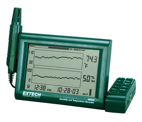 Extech RH520A: Ayrılabilir Problu Nem + Sıcaklık Grafik Kaydedici