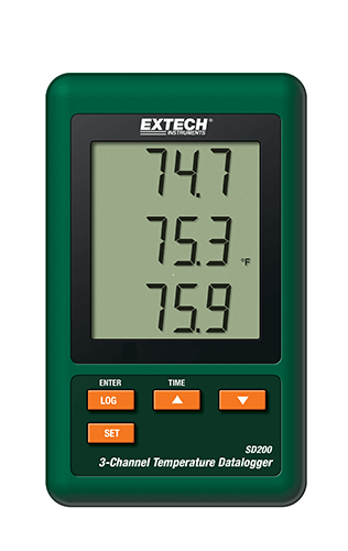 Extech SD200: 3 Kanallı Sıcaklık Datalogger
