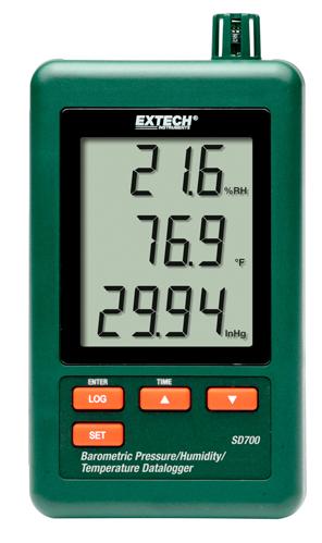 Extech SD700: Barometrik Basınç / Nem / Sıcaklık Datalogger