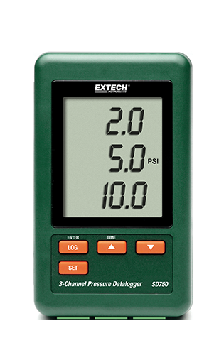 Extech SD750: 3 Kanallı Basınç Veri Kaydedicisi
