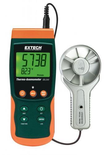 Extech SDL300: Metal Kanatlı Termo-Anemometre / Datalogger