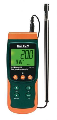 Extech SDL350: Sıcak Tel CFM Termo-Anemometre / Datalogger