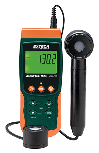 Extech SDL470: UVA / UVC Işık Ölçer / Datalogger,