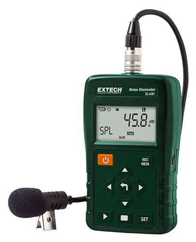 Extech SL400:  USB Arayüzü ile KişiselGürültü Dozimetre