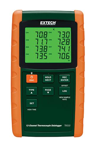 Extech TM500: 12 Kanallı Datalogging Termometresi